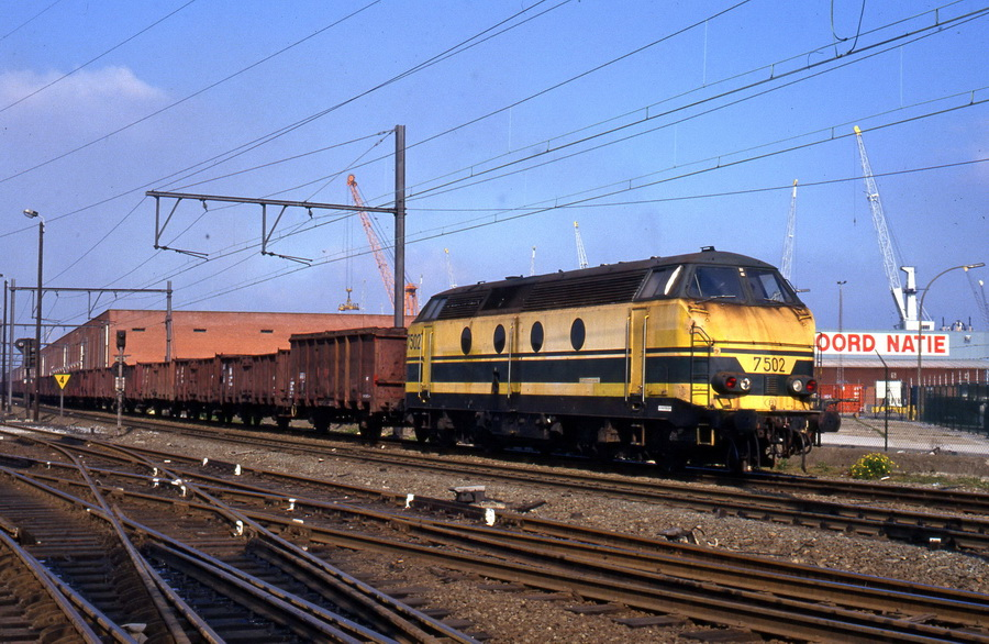 7502 Antwerpen haven 11.05.1991 (Collectie Axel vermeulen - foto Guy Smetz)